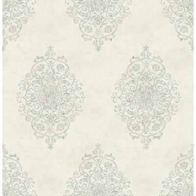Garwood Cream Damask Wallpaper