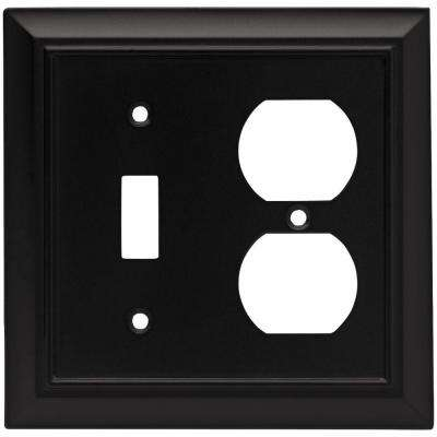 Architectural Decorative Switch and Duplex Outlet Cover, Flat Black