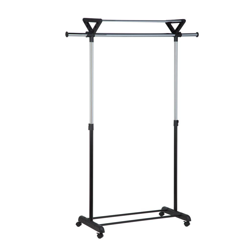 26.4 in. x 17.32 in. Top Shelf Plastic Garment Rack
