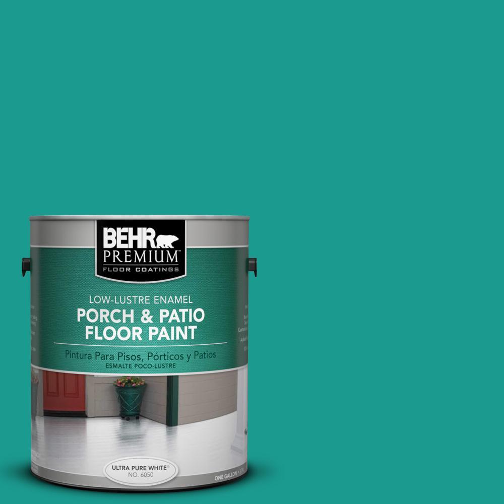 1 gal. #P450-6 Tropics Low-Lustre Porch and Patio Floor Paint