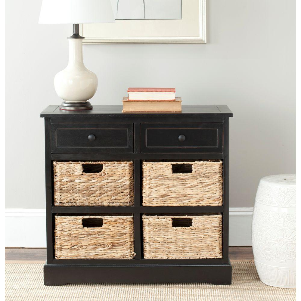 Safavieh Herman Distressed Black Chest