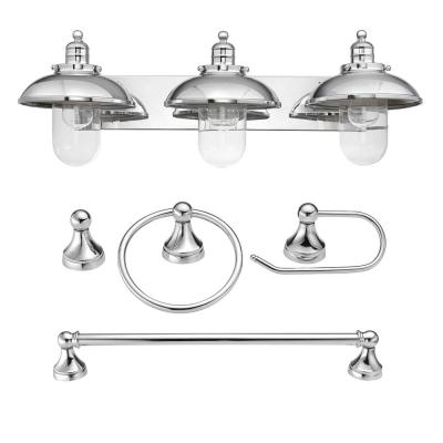 Freemont 5-Piece Chrome All-in-One Bathroom Set