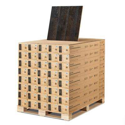 Hickory Wadell Creek 3/8 in. T x 6-1/2 in. W x Varying L Click Lock Engineered Hardwood Flooring (945.6 sq. ft. /pallet)