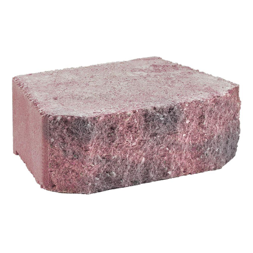 12 in. x 7 in. Windsor Rose/Charcoal Concrete Retaining Wall Block