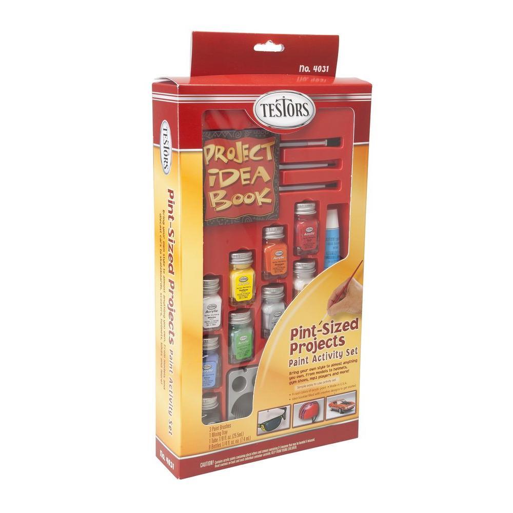 0.25 oz. 9-Color Acrylic Pint-Sized Project Paint Kit (4-Pack)
