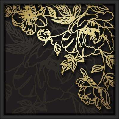 "18 in. x 18 in. ""Layered Floral"" Shadowbox Wall Art"