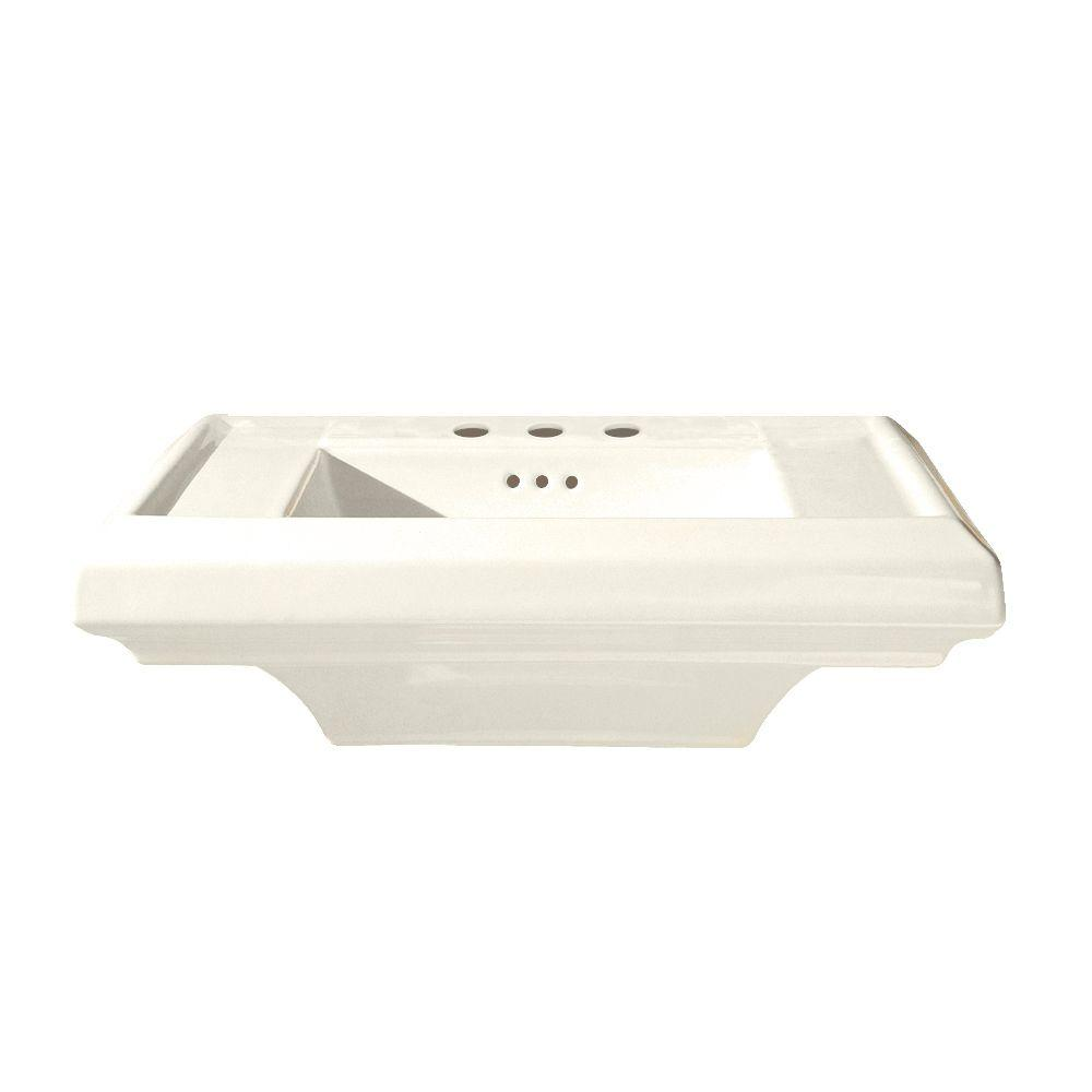 American Standard Town Square 25 in. Pedestal Sink Basin with 4 in. Faucet Spacing in Linen