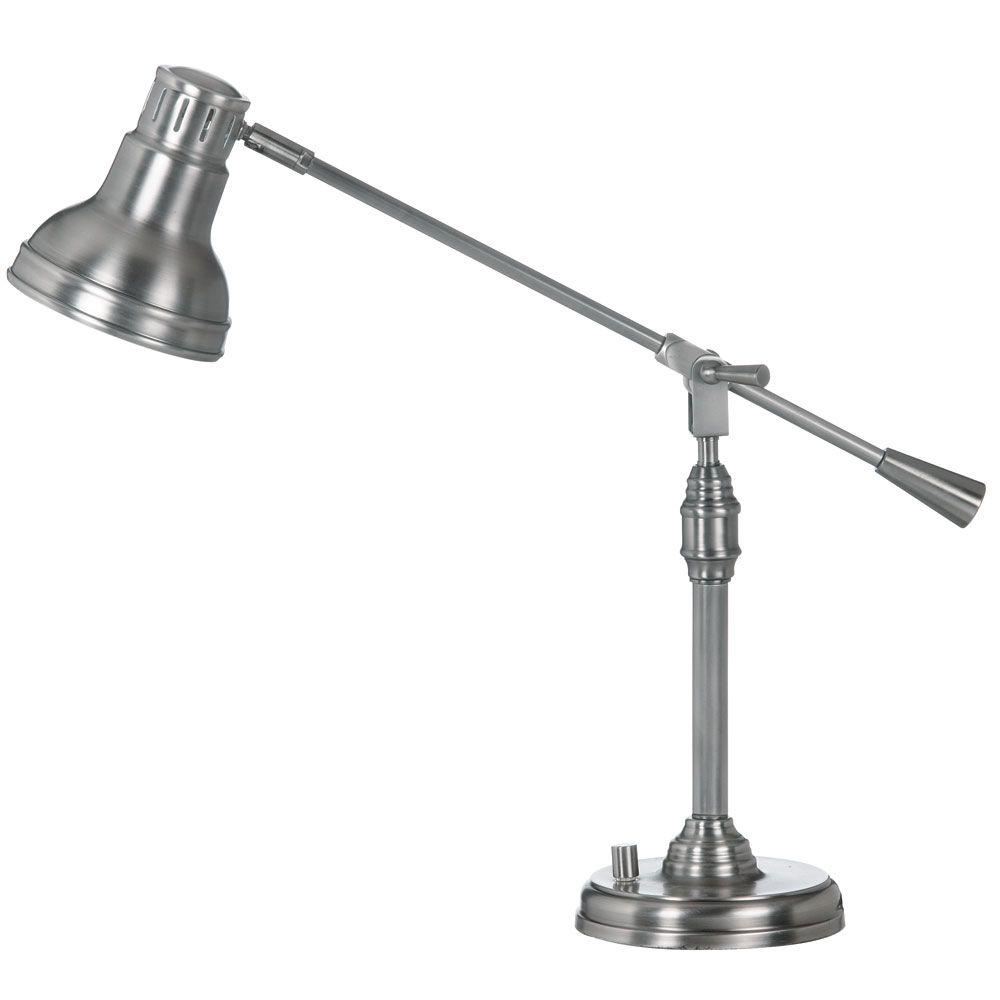 Catherine 27 in. Fluorescent Antique Satin Chrome Table Lamp