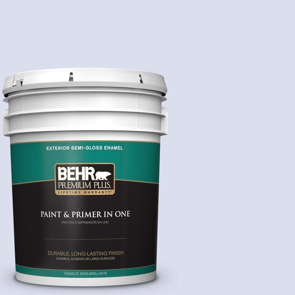 5-gal. #620C-1 Winter Ice Semi-Gloss Enamel Exterior Paint