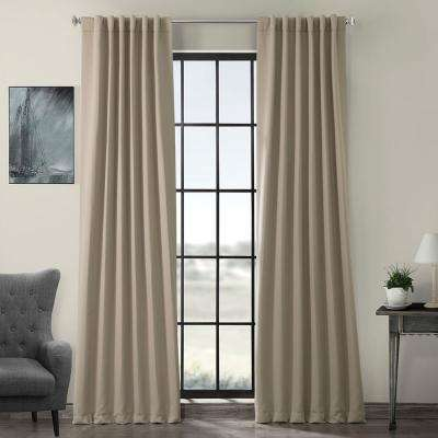Semi-Opaque Classic Taupe Beige Blackout Curtain - 50 in. W x 96 in. L (Panel)