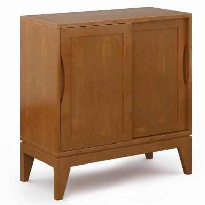 Thompson Teak Brown Low Storage Cabinet