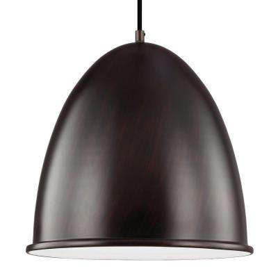 Hudson Street Light Burnt Sienna Pendant
