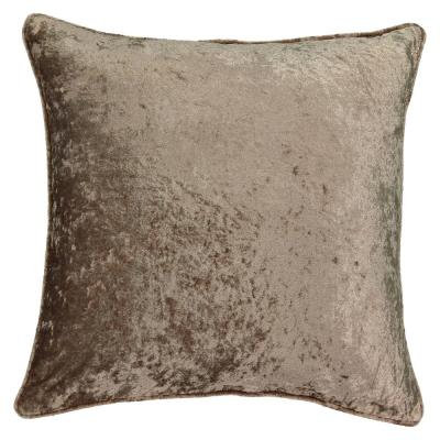 Sandrine Mk Solid Faux Velvet Polyester 20 in. x 20 in. Throw Pillow
