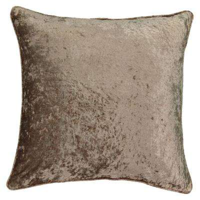 Sandrine Faux Velvet Square Mink Standard Decorative Pillow