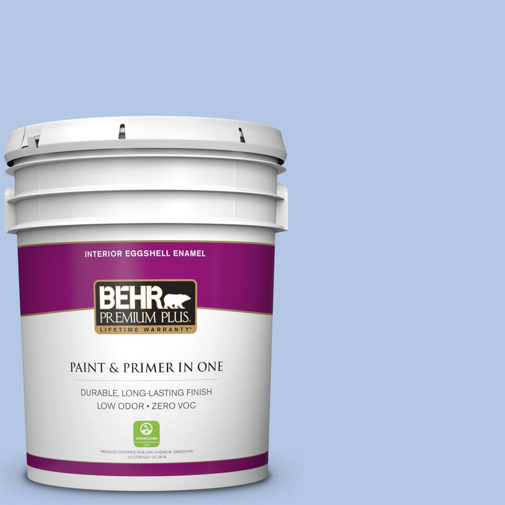 BEHR Premium Plus 5-gal. #590A-3 Beautiful Dream Zero VOC Eggshell Enamel Interior Paint