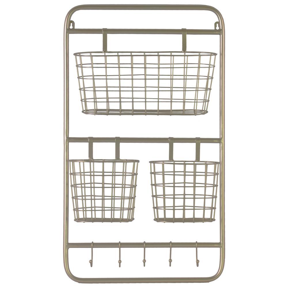 16.25 in. x 28 in. 1 Metal Wall Shelf