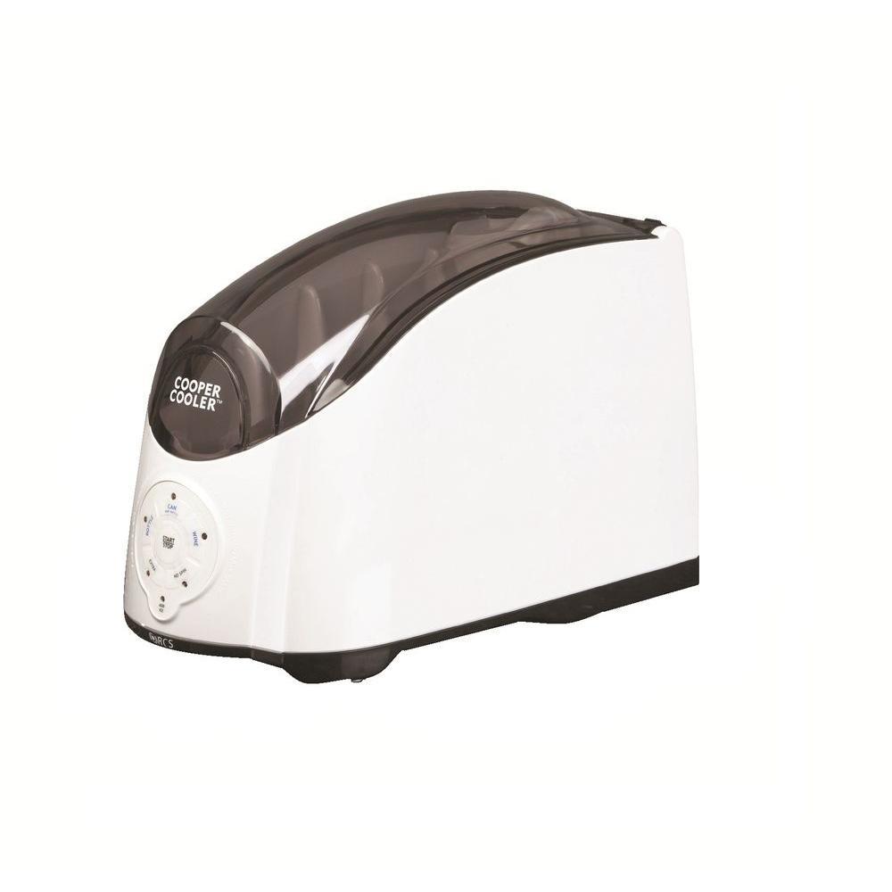 Cooper Cooler 10 in. 1-Bottle Rapid Beverage Chiller in White