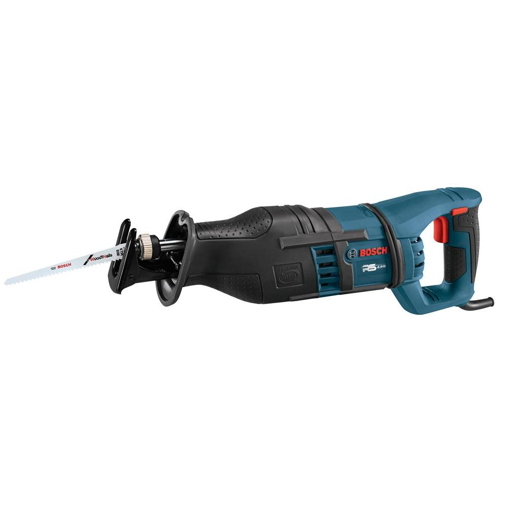 Bosch 14 Amp Corded 1-1/8 in. Variable Speed Stroke Reciprocating Saw with Carrying Bag and Vibration Control