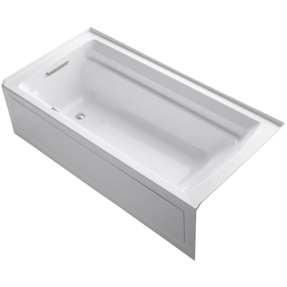 KOHLER Archer 6 ft. Acrylic Left Drain Rectangular Alcove Whirlpool ...