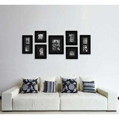 7-Opening 4 in.x 6 in. Matted Picture Frame