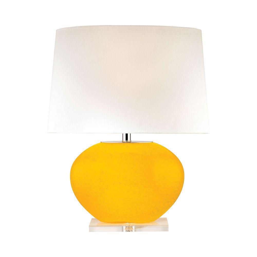 Titan Lighting 25 In Yellow Marigold Bowl Table Lamp Tn 999278