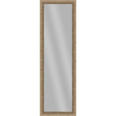 Large Rectangle Medium Champagne Art Deco Mirror (51.875 in. H x 15.875 in. W)