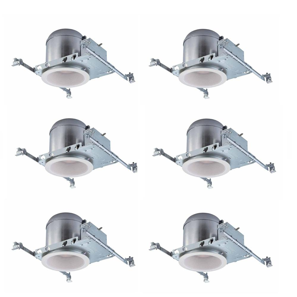 commercial electric 6 in white recessed lighting housings and trims rh homedepot com