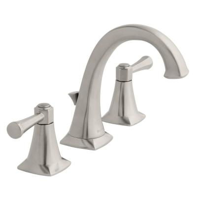 Stillmore 8 in. Widespread 2-Handle High-Arc Bathroom Faucet in Brushed Nickel
