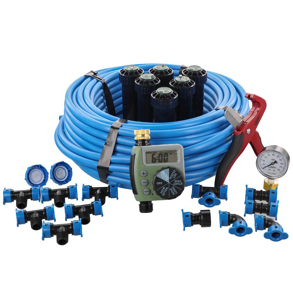 Orbit In-Ground 1/2-Inch Sprinkler System with Hose Faucet Timer