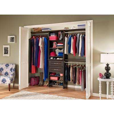 Impressions 25 in. W. Chocolate Standard Closet Kit