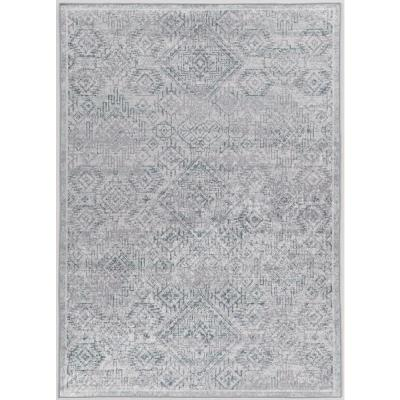 Echelon Brea Grey/Blue 3 ft. 3 in. x 5 ft. Accent Rug