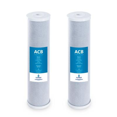 """Express Water – 2 Pack Big Blue Water Filter Activated Carbon Block Filter – Whole House – 5 Micron – 4.5"""" x 20"""" inch"""