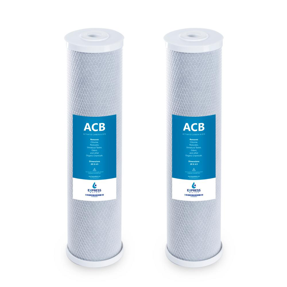 REPLACEMENT 2 BIG BLUE WATER FILTER SEDIMENT /& CARBON BLOCK 4.5 X 20/""