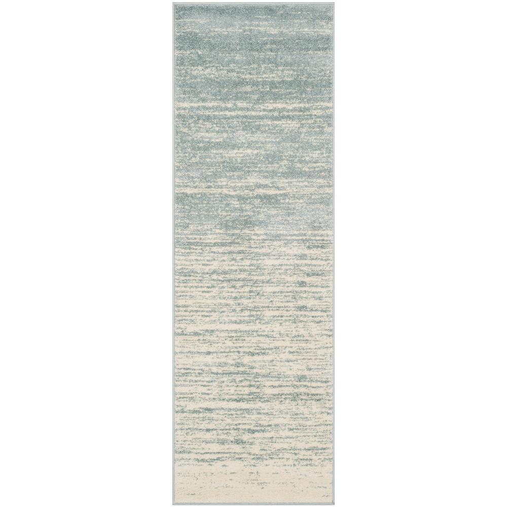 Adirondack Slate/Cream 2 ft. 6 in. x 12 ft. Runner Rug