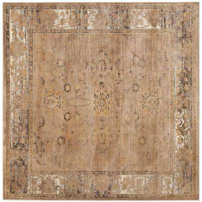 Vintage Taupe 6 ft. x 6 ft. Square Area Rug