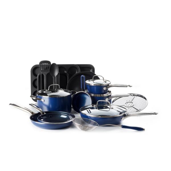 Blue Diamond 20pc Cookware Set Cc002374 001 The Home Depot