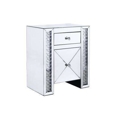 Carson Silver Mirrored 2-Drawer Side Table