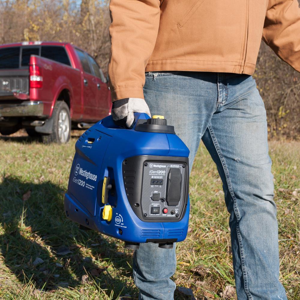 iGen1200 1,200/1,000 Watt Gas Powered Portable Inverter Generator with Enhanced Fuel Efficiency