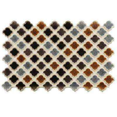 Arabesco Brunatto 5-1/2 in. x 9 in. Porcelain Floor and Wall Tile