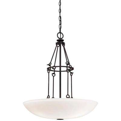 Cluster minka lavery pendant lights lighting the home depot kingsgate 3 light kona black bowl pendant aloadofball Gallery