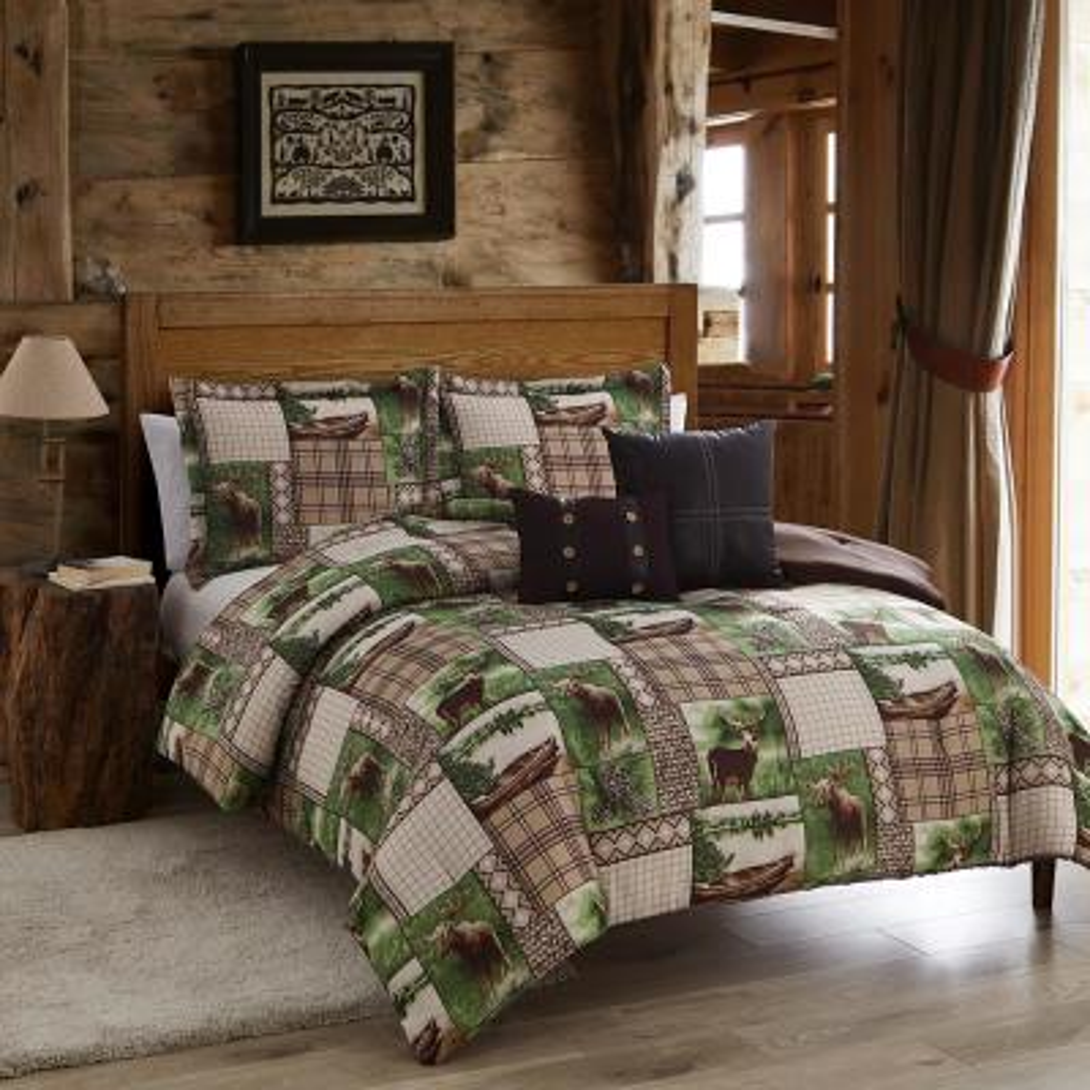 Seneca 5-Piece Brown/Green King Comforter Set