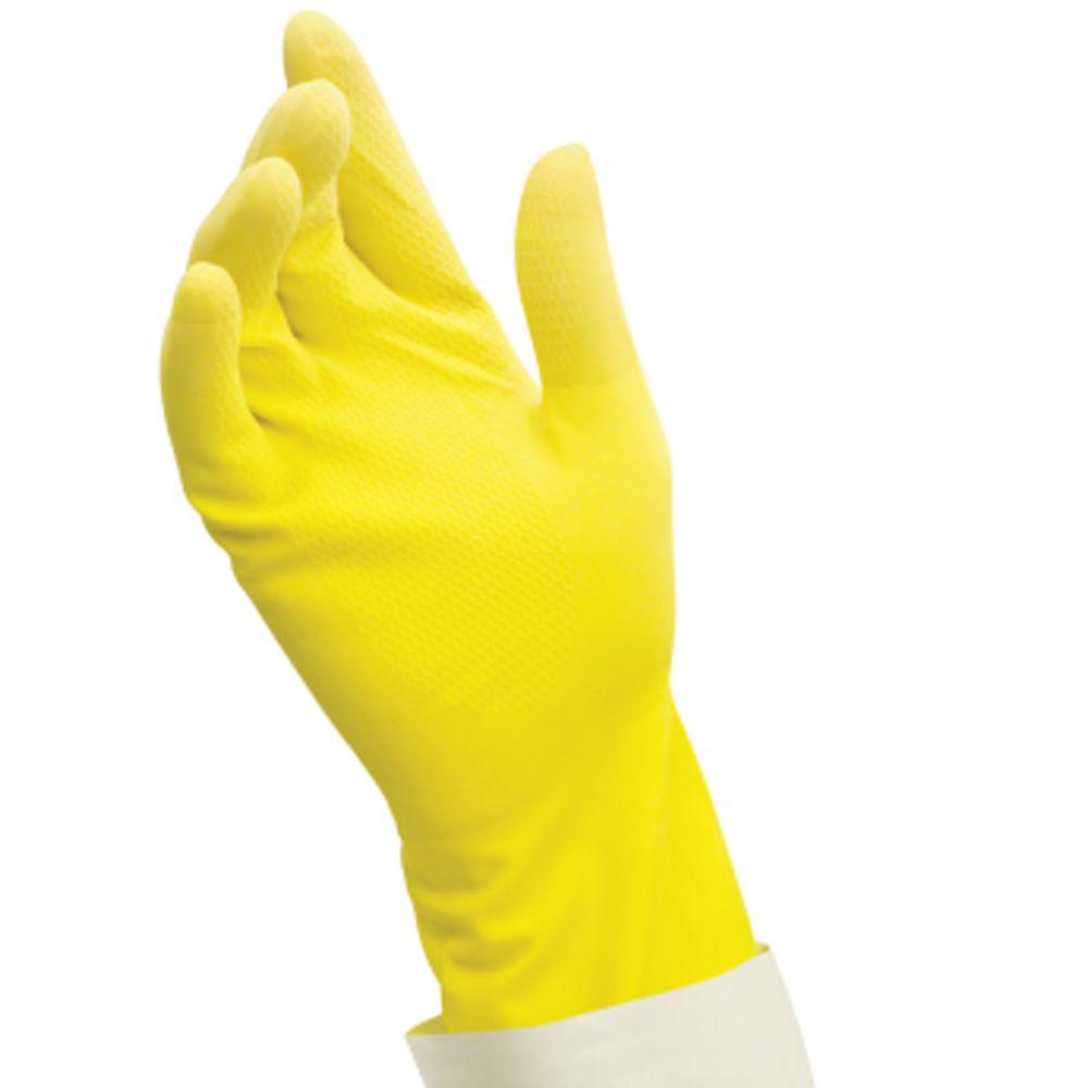 Caring Hands Latex Cleaning Gloves, Large/X-Large