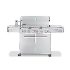 Weber Summit S-670 6-Burner Propane Gas Grill in Stainless Steel with Built-In Thermometer and Rotisserie by Weber