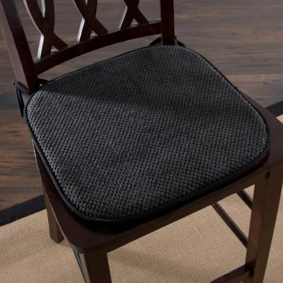 16 in. x 16 in. Charcoal Memory Foam Chair Pad