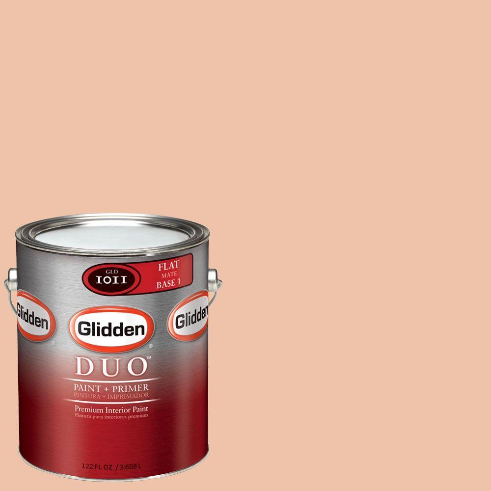 Glidden DUO Martha Stewart Living 1-gal. #MSL039-01F Butternut Squash Flat Interior Paint with Primer-DISCONTINUED