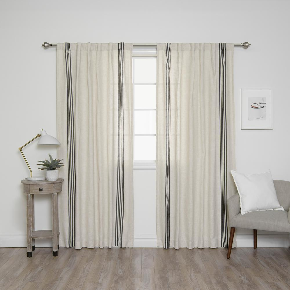 Best Home Fashion 84 In L Linen Blend Ivory Curtain