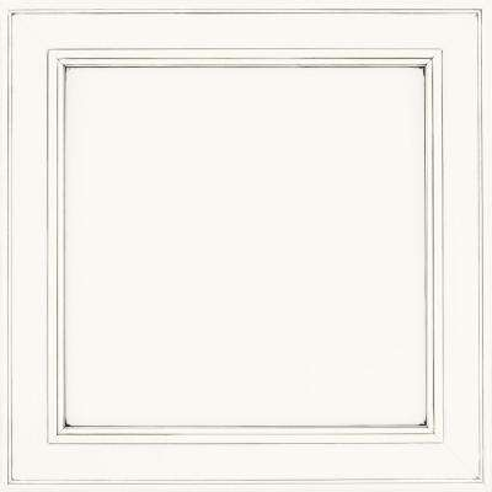 14-9/16 in. x 14-1/2 in. Cabinet Door Sample in Brookland Painted Pewter Glaze