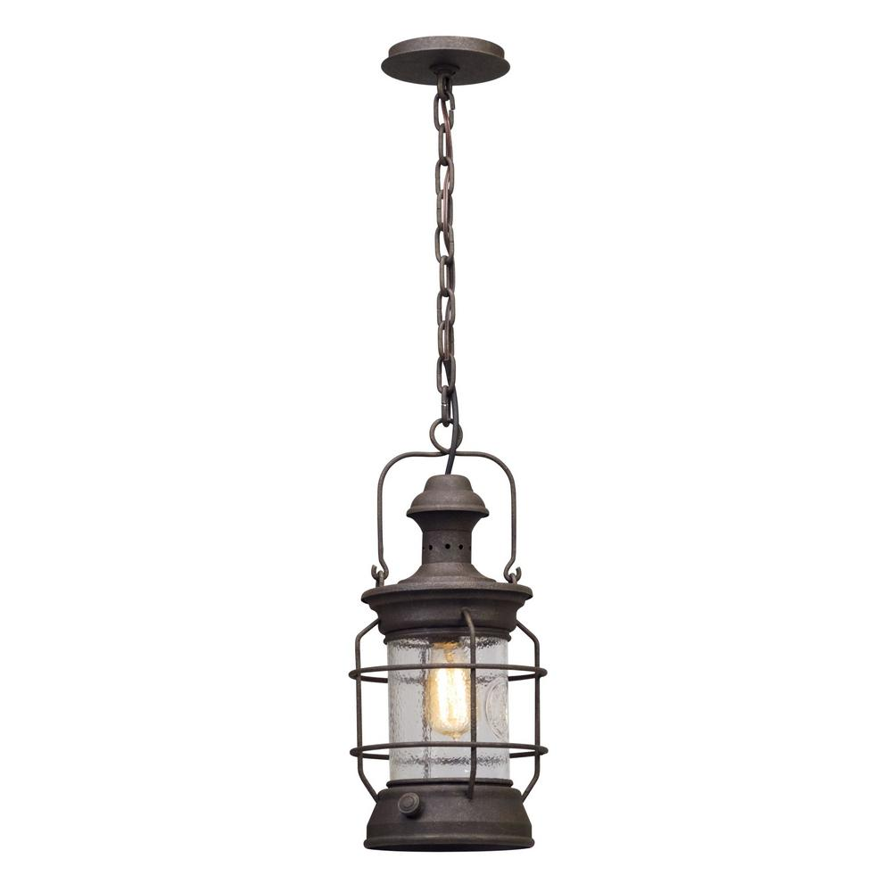 Troy Atkins 1-Light Centennial Rust Outdoor Pendant