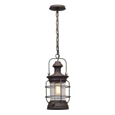 Atkins 1-Light Centennial Rust Outdoor Pendant