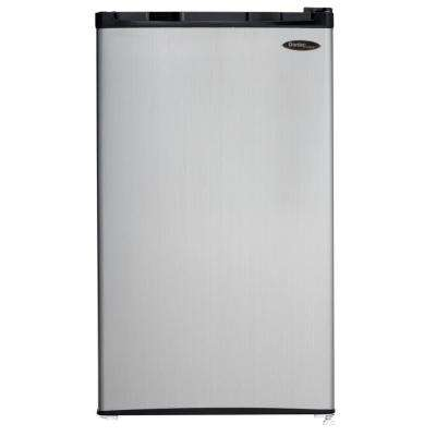 3.2 cu. ft. Mini Refrigerator in Black with Spotless Steel